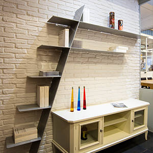 Libreria di design in alluminio f0 by aguzzoli a production for Libreria mobili design